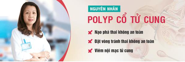 Nguyên nhân dẫn tới bệnh polyp cổ tử cung là gì?