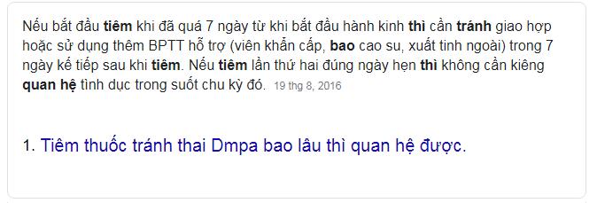 Tiem Thuoc Tranh Thai Dmpa