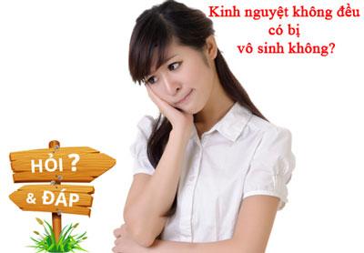 Kinh Nguyet Khong Deu Co Gay Vo Sinh